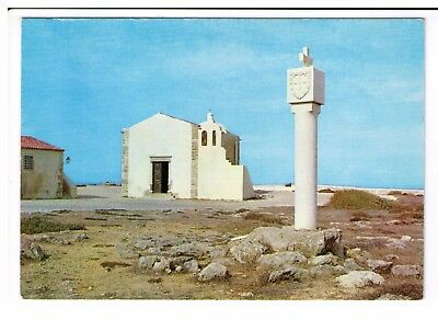 Postcard: Small Chapel of Our Lady Gracas and Monument, Sagres, Portugal