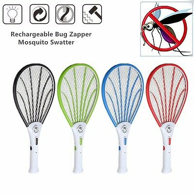 Mosquito Swatter Portable Electric Bug Insect Fly Zapper Bug Racket Killer