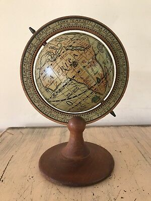 Vintage Olde World Rotating Globe On Wooden Stand