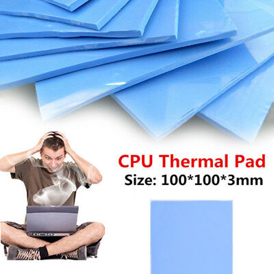 100mmx100mmx3mm PC GPU/CPU Cooler Heatsink Thermal Conductive Silicone Pad Mat