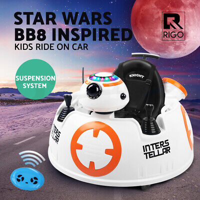 RIGO Kids Ride On Car STAR WARS INTELLER BB8 Children Electric Toys Remote 12V