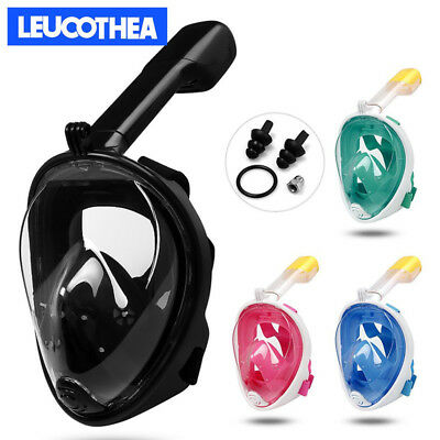 2018 New Anti-Fog Full Face Mask Swimming Dry Diving Snorkel Scuba For GoPro