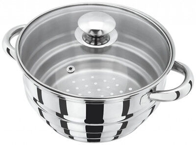 New Judge Basics Stainless Steel Multi Fit All Steamer With Glass Lid HX12