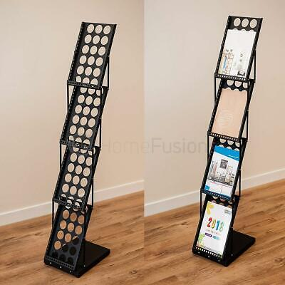 A4 Folding Exhibition Stand Floor Brochure Display Stand Portable Magazine Trade