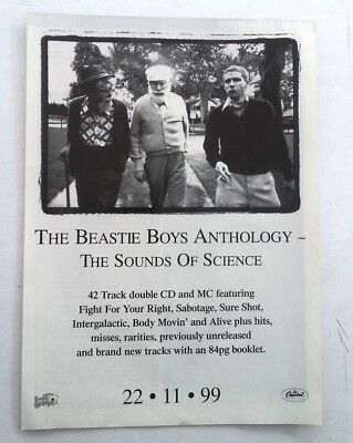 BEASTIE BOYS Sounds Of Science 2000 magazine ADVERT/Poster/clipping 11x8 inches