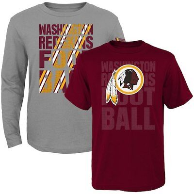 Washington Redskins Toddler Two-Pack Playmaker Long Sleeve & Short Sleeve