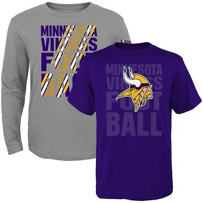 Minnesota Vikings Toddler Two-Pack Playmaker Long Sleeve & Short Sleeve T-Shirt