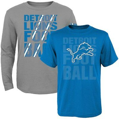 Detroit Lions Toddler Two-Pack Playmaker Long Sleeve & Short Sleeve T-Shirt