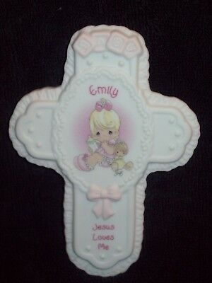 New Emily Baby Cross By Enesco Precious Moments Collectible Keepsake
