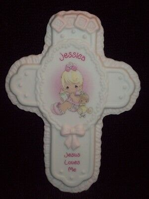 New Jessica Baby Cross By Enesco Precious Moments Collectible Keepsake