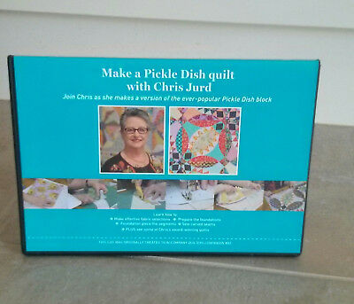 MAKE A PICKLE DISH QUILT with CHRIS JURD DVD ~ NEW