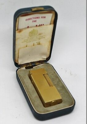 Dunhill Rollagas Gold Plated Lighter in Box with Instructions #4