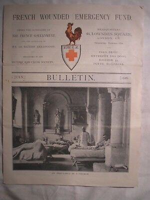Western Front France French Wounded Bulletin 1916 Army British Medical History