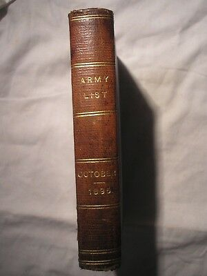 British Army List 1895 ORIGINAL Infantry Cavalry Artillery History