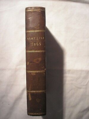 British Army List 1863 ORIGINAL Infantry Cavalry Artillery History