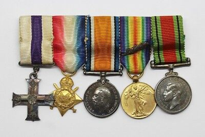 Superb Contemporary Miniature WW1 Military Cross & MID Medal Group #23