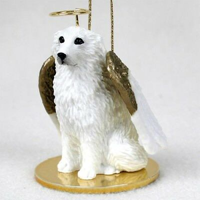 GREAT PYRENEES Dog ANGEL Ornament HAND PAINTED Resin Figurine Christmas puppy
