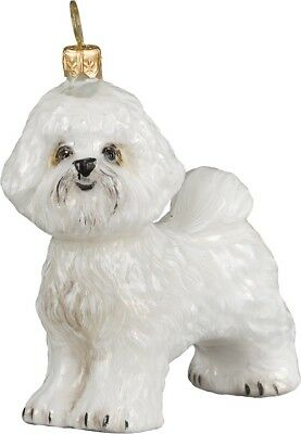 Bichon Frise Dog Polish Blown Glass Christmas Ornament Decoration Made in Poland