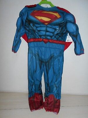 SIZE 3-4 T Boy's Superman Halloween Costume NEW 2 Piece Superhero Man of Steel
