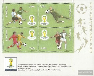 Romania Block592 (complete.issue.) unmounted mint / never hinged 2014 Football-W