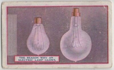 Why Incandescent Lamp Filament Glow Electricity 90+  Y/O Trade Ad Card