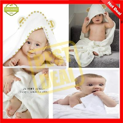 Hooded Towel Baby 100 Organic Bamboo Bath Soft Towels Absorbent Hypoallergenic