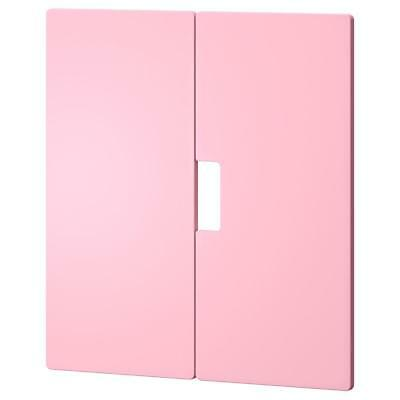 Ikea Stuva Malad Pair of PINK soft close doors front 60 x 64cm 901.690.99