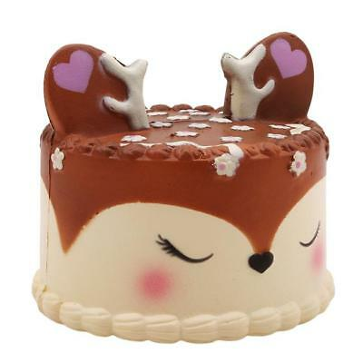 Jumbo Deer Cake Squishies Slow Rising Scented Squeeze Toy Collection Charms W