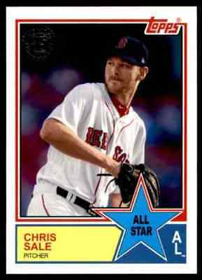 2018 Topps Series 2 # 83AS-6 CHRIS SALE 1983 All Star Insert Boston Red Sox