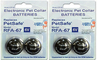 4 Pack PetSafe ® Compatible RFA-67 & RFA-67D-11 Replacement Battery 2 x 2 Packs