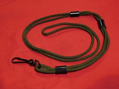 Vintage Army Issued (or USMC AF USN) Pistol Lanyard OD Green 1911A1 or Beretta
