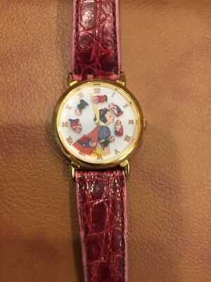 Vtg Disney Watch Seven Dwarfs  & Snow White Ladies