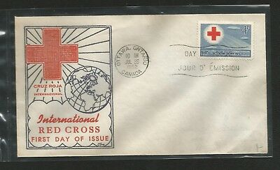 Canada Fdc George Cachet 317 Red Cross (Sealed) Flap Sealed Shut