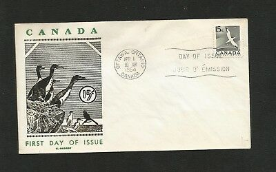 Canada Fdc George Cachet 343 15Cent Gannet (F.s.i) -Flap Stuck To Inside Of Enve