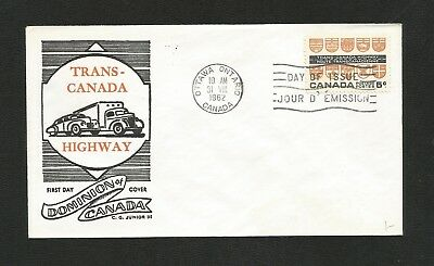 Canada Fdc George Cachet 400 Trans Canada Highway