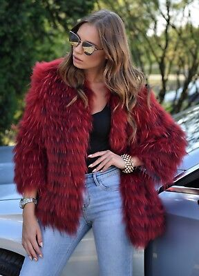 New 2019 Long Fox Fur Jacket Class Of Sable Chinchilla Mink Coat Vest Silver Red
