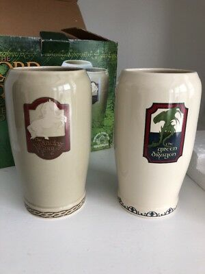 Lord of the Rings Pint Set The Prancing Pony & The Green Dragon Inn  New in Box
