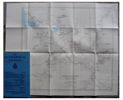 1957 Harrison - CENTRAL ANDES OF PERU - Large Color Map - 03