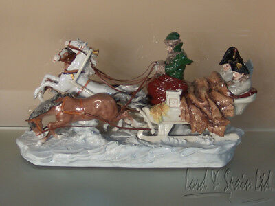 "Scheibe Alsbach Kister Napoleons Escape/Flight by Sleigh 14 1/2"" L Figurine"