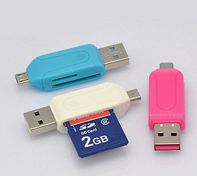 3 Function Micro USB OTG TF/SD Card Reader for Cellphone  PC Media Player CA