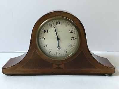 Vintage Swiss Made 8 Day Mantel Clock, with Wooden Case