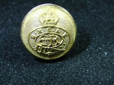 1936 EDWARD VIII ER H.M. CUSTOMS GILT CUFF BUTTON 17mm blank