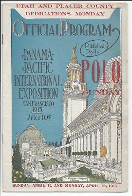 Polo Program+, Panama Pacific International Exposition (PPIE), April 11, 1915
