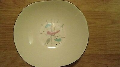 EDWIN KNOWLES MOBILE PATTERN #5069 MIDCENTURY MODERN CHINA Coupe Soup BOWL DISH