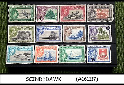 Gilbert And Ellice Islands -  1939 Kgvi Sg#43-54 - 12V - Mint Hinged
