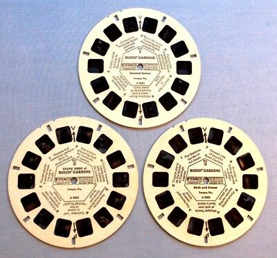 Viewmaster Reels - Busch Gardens - 3 Reels For 3 Bucks Deal - Free Shipping