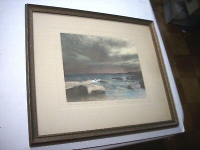 Maine Coast Sky RARE WALLACE NUTTING HC Photograph-Print Water Landscape 1917