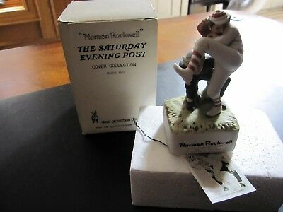 1981 Norman Rockwell -Saturday Evening Post Cover Collection Baseball Music Box