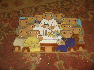 Saint Andrew's Abbey Ceramics RELIGIOUS PLAQUE - THE LAST SUPPER - Free Shipping