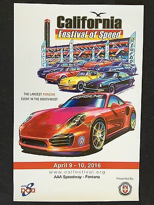 Porsche Club Of America Festival Of Speed 911 Turbo Official Event Poster 2016.